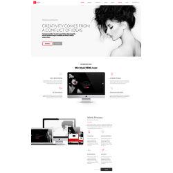 个人网站单页 兼容手机端单页视差模板