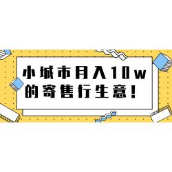 小城市月入10w的寄售行生意【视频教程】